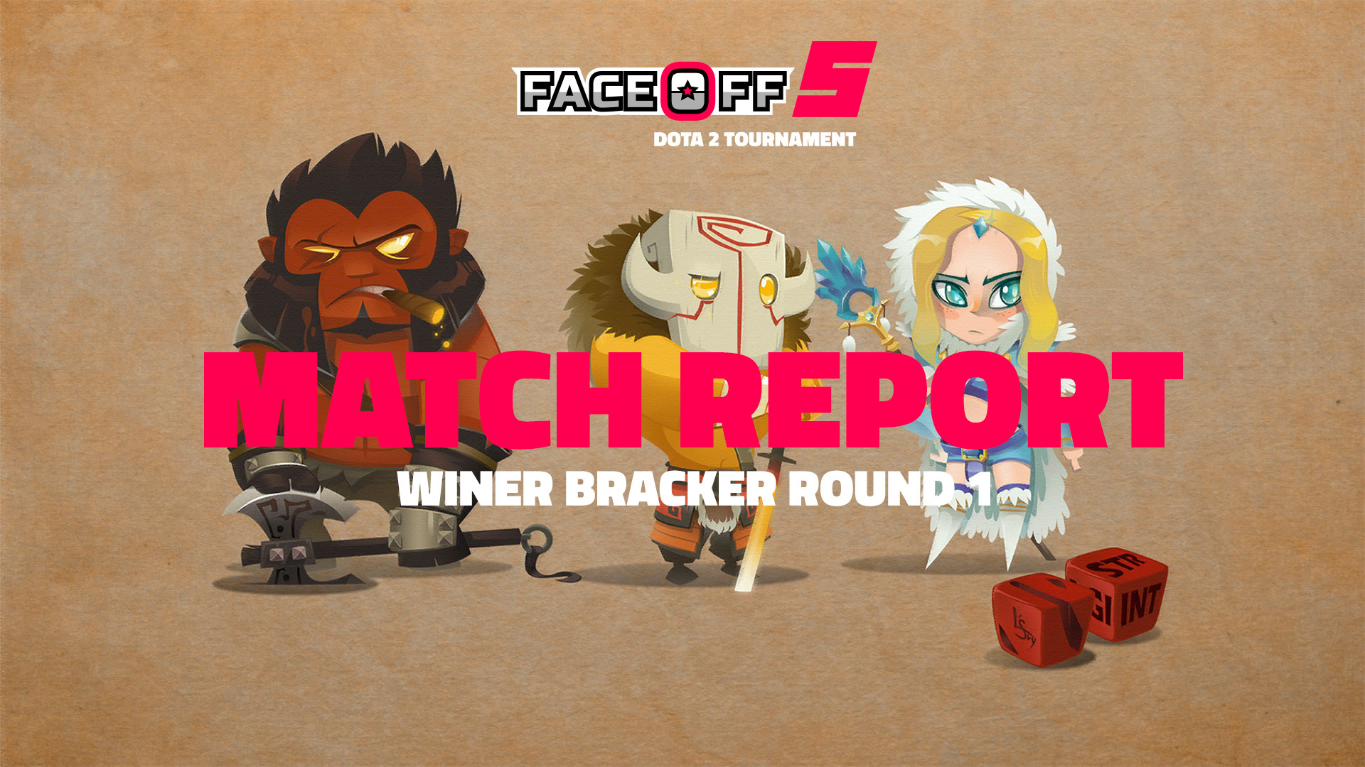 DaGameLeague esports news Match Report - Faceoff 5 - Winner Bracket Round 1 banner